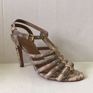 Tory Burch Snakeskin Strappy Leather Sandals Sz. 8